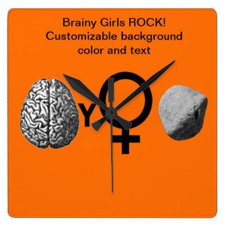 ¡Roca inteligente de los chicas! Reloj Cuadrado