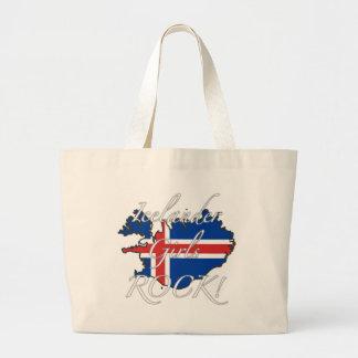 ¡Roca islandesa de los chicas! Bolsas Lienzo