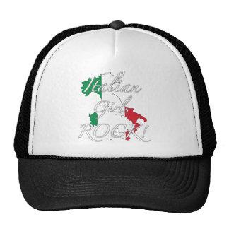 ¡Roca italiana de los chicas! Gorras