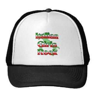 Roca italiana de los chicas gorras de camionero