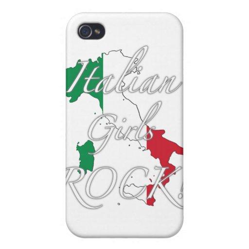 ¡Roca italiana de los chicas! iPhone 4 Protector