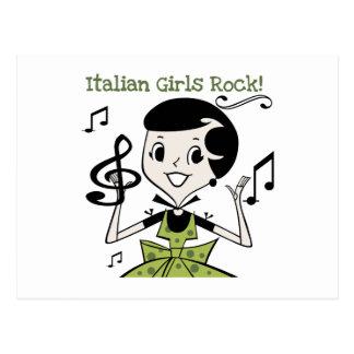Roca italiana de los chicas postal