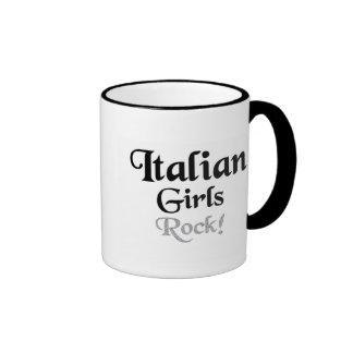Roca italiana de los chicas taza de dos colores
