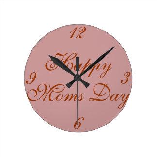 Roca las veinticuatro horas del día con la mamá reloj redondo mediano