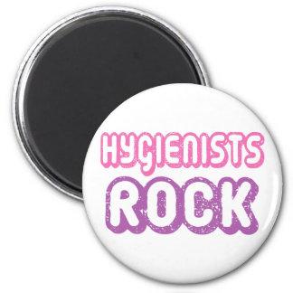 Roca linda de los higienistas dentales imán redondo 5 cm