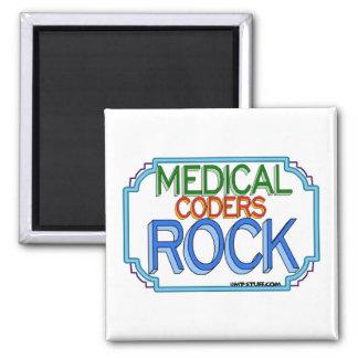 Roca médica de los codificadores imán cuadrado