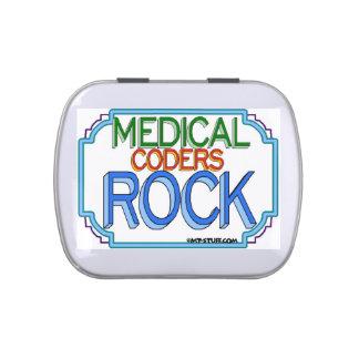 Roca médica de los codificadores latas de caramelos