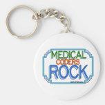 Roca médica de los codificadores llavero personalizado
