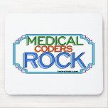 Roca médica de los codificadores tapete de raton