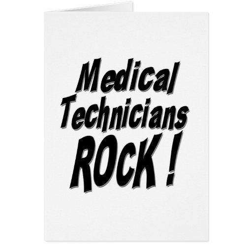 ¡Roca médica de los técnicos! Tarjeta de felicitac