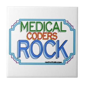 Roca médica del práctico de costa MCS del codifica Azulejo Cuadrado Pequeño