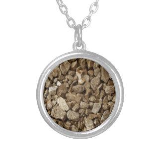 Roca natural del granito collar plateado