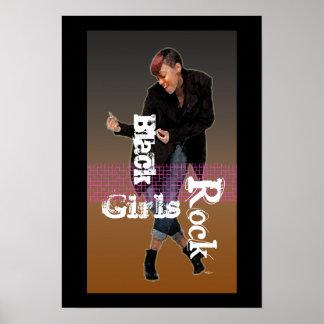 Roca negra de los chicas póster
