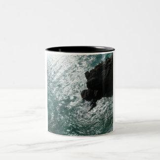 Roca negra taza dos tonos
