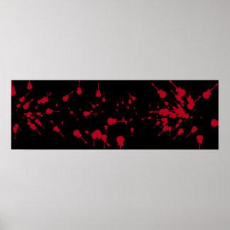 roca negra y roja de la guitarra de la sangre póster