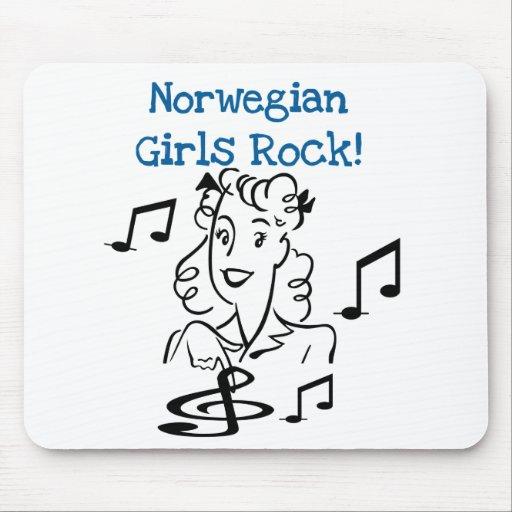 Roca noruega de los chicas alfombrilla de raton