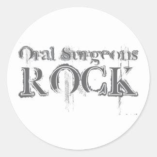 Roca oral de los cirujanos etiquetas redondas