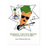 Roca orgánica de las zanahorias tarjetas postales