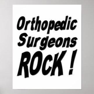 ¡Roca ortopédica de los cirujanos! Impresión del p Posters