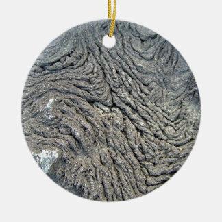 Roca oscura con el modelo del remolino adorno redondo de cerámica