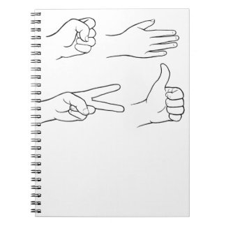 Roca, papel, tijeras, bomba note book