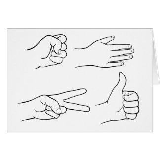 Roca, papel, tijeras, bomba tarjeta de felicitación