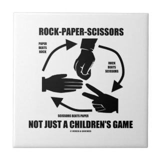 Roca-Papel-Tijeras no apenas un juego de los niños Azulejos