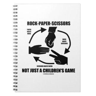 Roca-Papel-Tijeras no apenas un juego de los niños Libretas Espirales