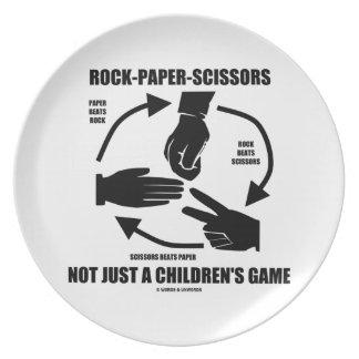 Roca-Papel-Tijeras no apenas un juego de los niños Plato Para Fiesta