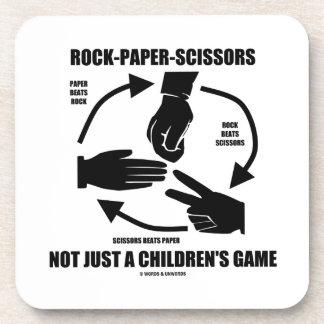 Roca-Papel-Tijeras no apenas un juego de los niños Posavasos De Bebidas