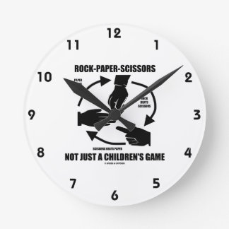 Roca-Papel-Tijeras no apenas un juego de los niños Reloj Redondo Mediano