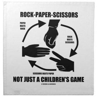 Roca-Papel-Tijeras no apenas un juego de los niños Servilleta Imprimida