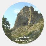 Roca pegatinas del lago Tahoe, Nevada de la cueva Pegatina Redonda