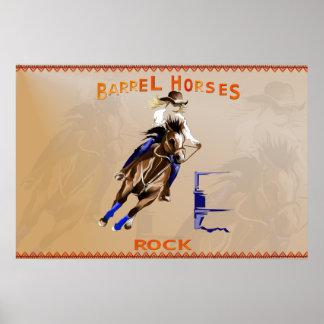 Roca-Poster de los caballos del barril
