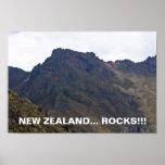 Roca-Poster de Nueva Zelanda