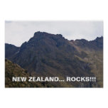 Roca-Poster de Nueva Zelanda Póster