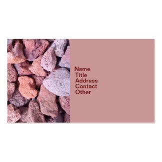 Roca roja de la lava tarjeta de negocio