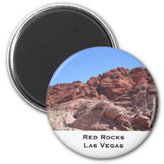 Roca roja de Las Vegas Imán Redondo 5 Cm