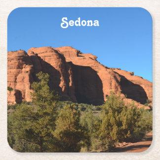 Roca roja en Sedona Posavasos Desechable Cuadrado