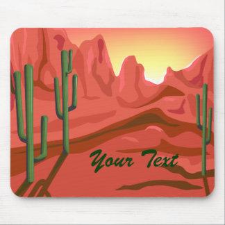 Roca roja Mousepad de la puesta del sol de Arizona