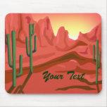Roca roja Mousepad de la puesta del sol de Arizona Tapetes De Raton