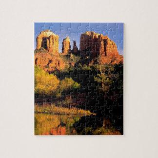 Roca Sedona Arizona de la catedral de la montaña Puzzle Con Fotos