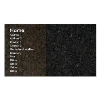 Roca sólido arrinconada tarjetas de visita
