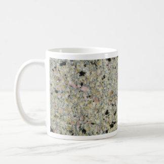 Roca sólido moteada taza básica blanca