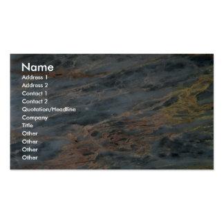 Roca sólido pintada en pastel tarjetas de visita