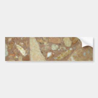 Roca sólido sedimentaria pegatina para auto
