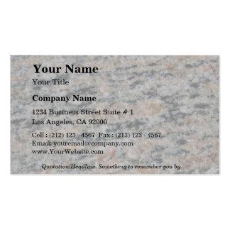 Roca sólido sedimentaria tarjetas de visita