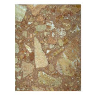 Roca sólido sedimentaria tarjetas postales