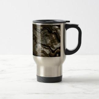 Roca sólido taza de viaje de acero inoxidable