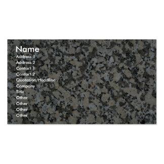 Roca sólido tomada para el granito tarjetas de visita